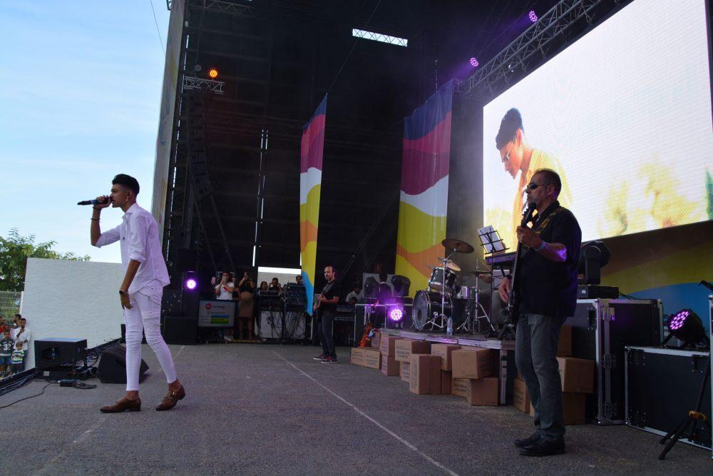 Aray en el escenario Foto: Jose Manuel Camaño